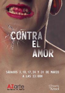 """No os perdáis """"Contra el amor"""" en la Sala Azarte. Los sábados de marzo."""