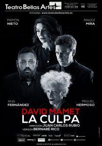 Se estrena LA CULPA de David Mamet en el Teatro Bellas Artes