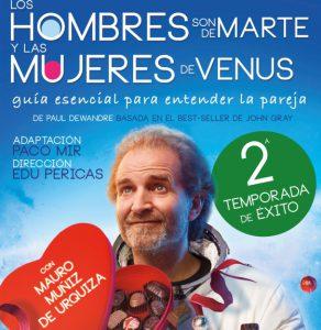 Los hombres son de marte y las mujeres de venus, sigue con gran éxito en el Teatro Nuevo Alcalá